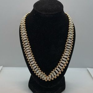VINTAGE 80's| Solid 14K Gold Rice Pearls Necklace